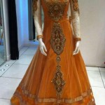Pakistani long gowns for brides