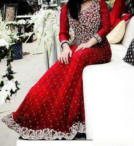 Pakistani wedding gowns 2013