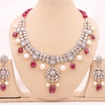 Pearl and diamond kundan jewelry