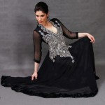 Fancy Pakistani Dresses With Silver Embroidery