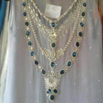 Stylish dresses with blue stones