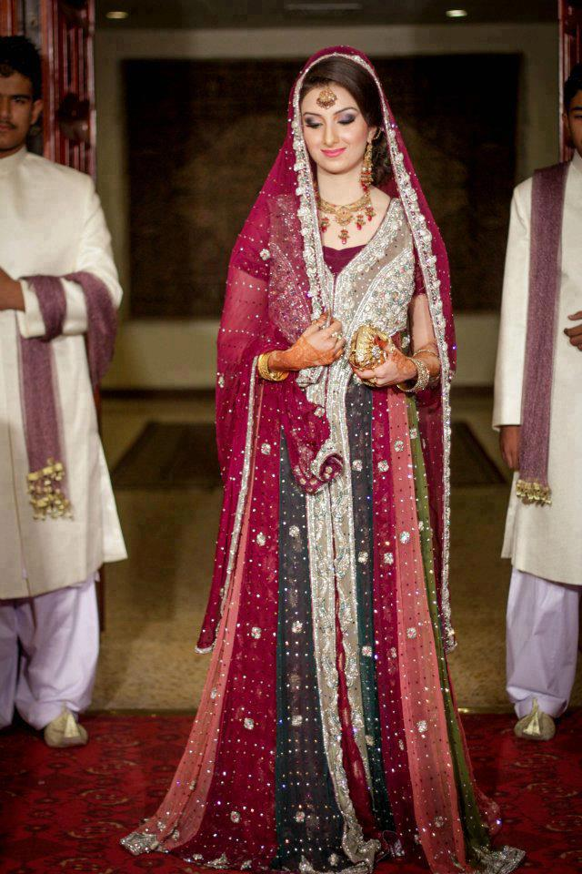 Pakistani bridal gowns collection 2013 new bridal gown for Pakistani wedding traditions