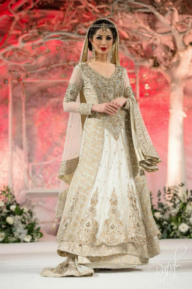 Pakistani bridal dresses in white color white bridal for Online pakistani wedding dresses