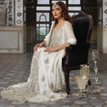 Latest collection of Pakistani bridal dresses in white color – White bridal dresses 2013