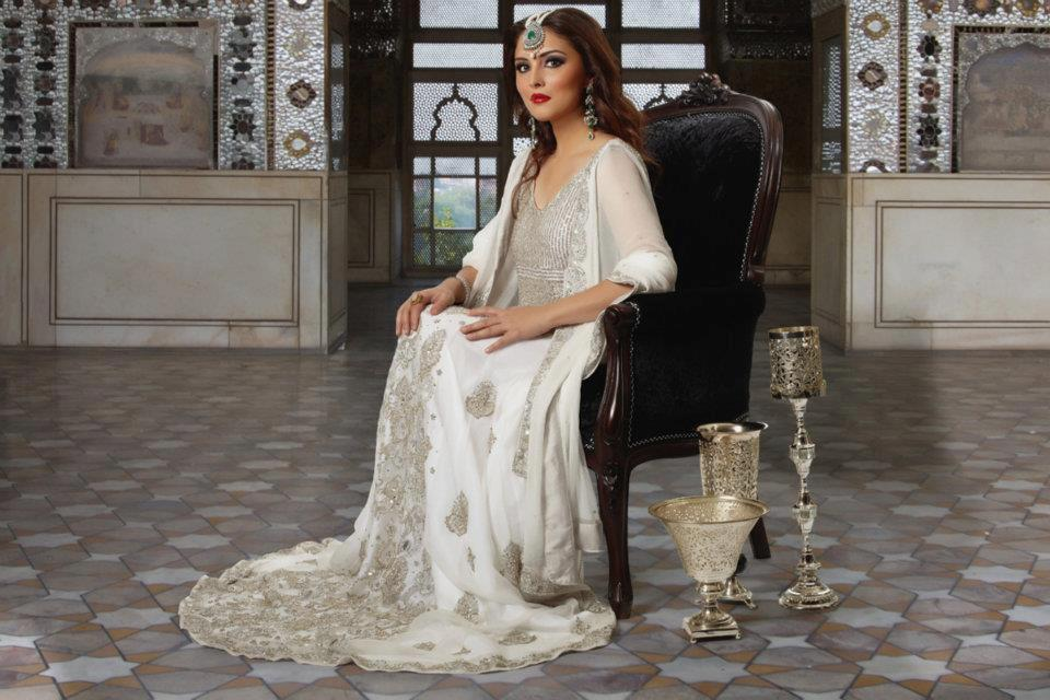 asian bridal dresses in white color