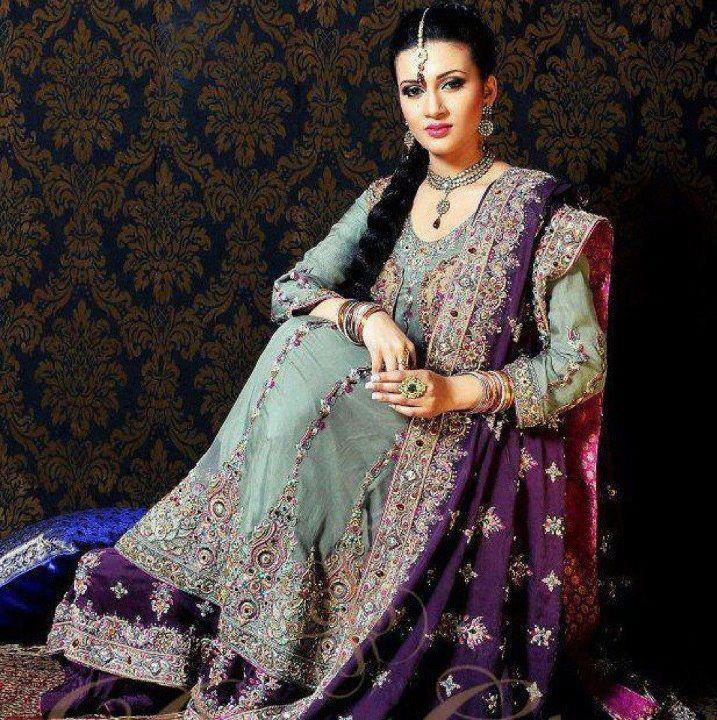 Gown style dresses in pakistani