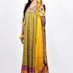 Latest designs of pakistani bridal mehndi dresses