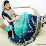 Bridal dress in maxi style