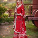 Bridal dresses designs in red color