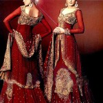 Bridal dresses in red shade