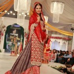 Bridal lehnga in red color