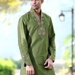 Formal kurta designs in green color