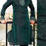 Green kurta pajama fashion in pakistan