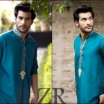 Men kurta designs in green color – Spring Kurta Collection 2013
