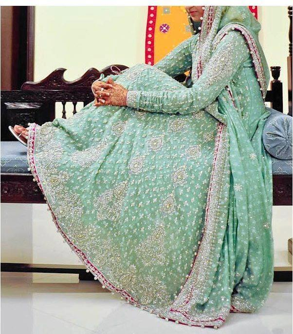 Pakistani bridal dress in maxi style