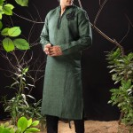 Pakistani kurta designs in green color