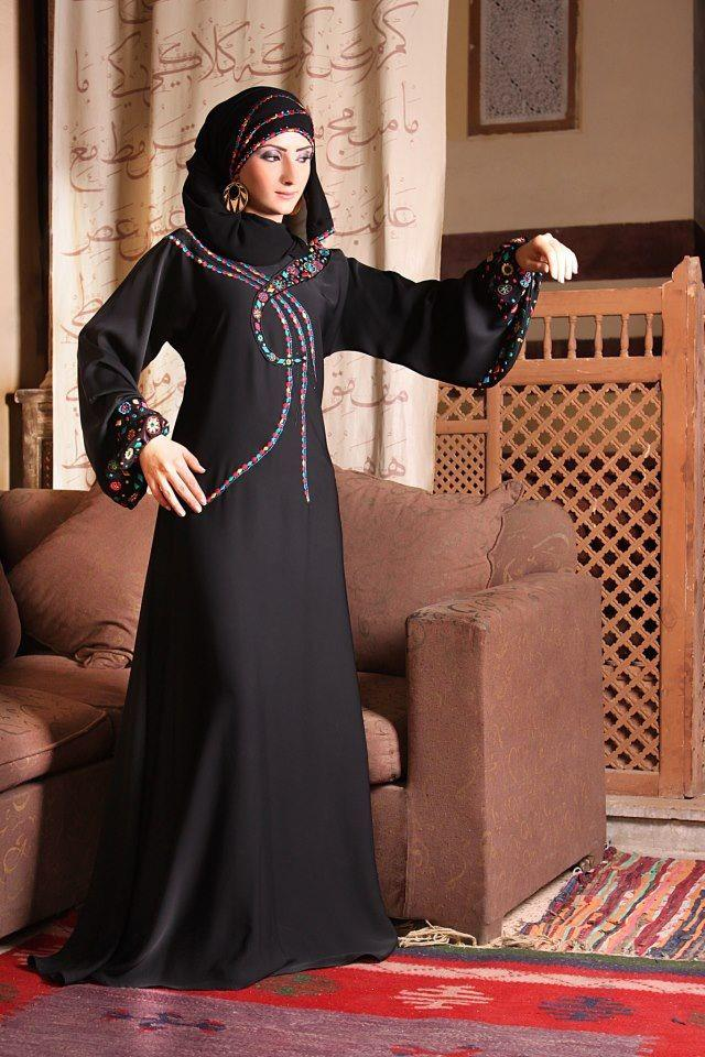 Latest abaya styles 2013 stylish abayas jilbab designs Fashion style in pakistan 2013