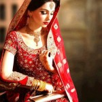 latest bridal dresses in red color