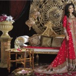 pakistani bridal dresses in red color