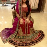 red bridal dresses pakistani