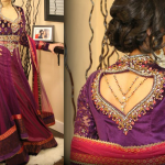 Pakistani party wear dresses with back embroidery