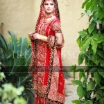 stylish bridal dresses in red color