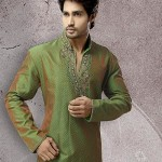 stylish kurtas in green sahde
