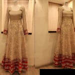 stylish maxi bridal pakistani outfit