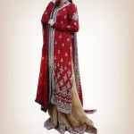 traditional pakistani dresses in red color