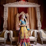 Bridal long shirt mehndi dress