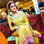 Bridal mehndi dress for wedding