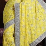Embroidered indian saree designs