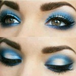 Eye make up in blue color