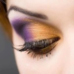 Eye makeup in two colors