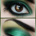 Eyemake up in three colors