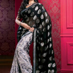Indian saree designs in black color