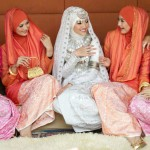 Modest bridal hijabs