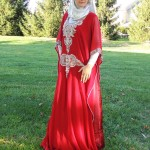 Muslim brides with hijab