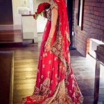 Red tail style bridal dresses