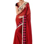 indian saree in red color