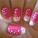 pink white nail art designs