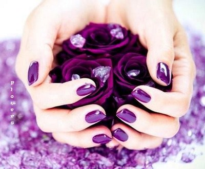 purple nail art designs simple