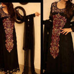 Black pakistani formal dresses