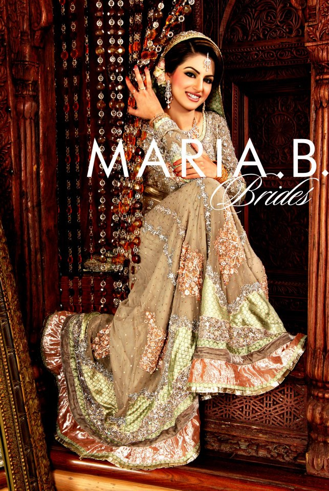 Mehndi Dresses By Maria B : Maria b bridal dresses collection by