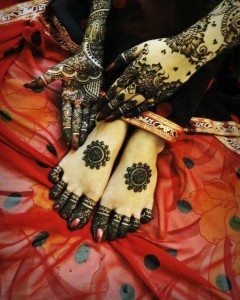 Bridal mehndi designs for hands and feet