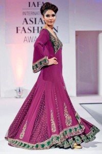 Bridal wedding gown with lehnga