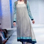 Frock designs in grey color