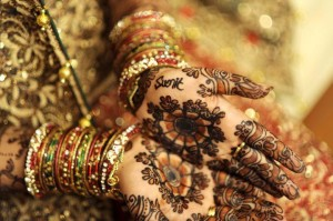 Indian style bridal mehndi designs