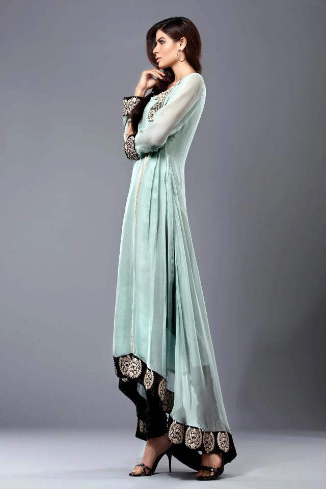 New Green Party Dresses - Pakistani Dresses In Green Color