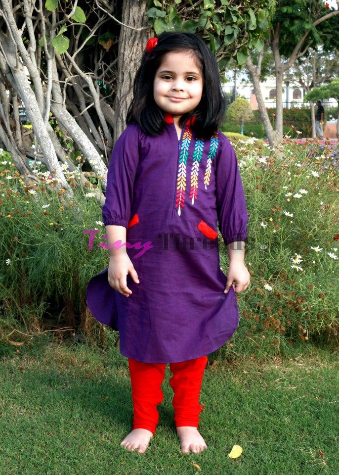 Summer kurtas for baby girls – Kids kurta designs